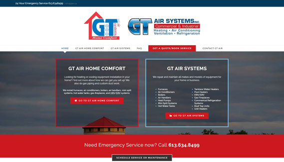 GT Air home page