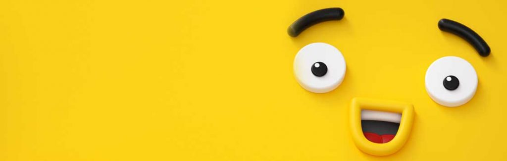 Yellow background with funny face